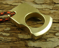 Solid Brass Survival Escape Tool outdoor EDC Key pendant with Handmade lanyard