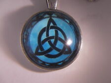 "Beautiful! WICCA -Triquetra - Pentagram - Pentacle - Pendant & 18"" Necklace"