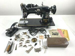 VTG 1951 PFAFF 130 - 6 Sewing Machine w/ Manual & Extras