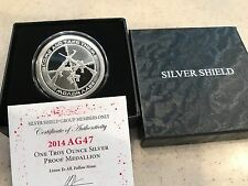 2014 1OZ AG-47 - COME & TAKE THEM PROOF - SILVER SHIELD - BLOOD SPLATTER COA