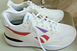 Reebok Burn't orange, Purple, White Athletic Walking Shoes Womens Size 8.5