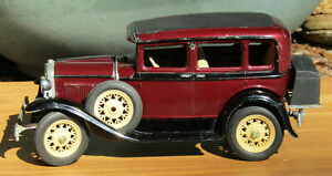 Vintage Hubley 1930 Model A Ford Town Sedan Classic Metal Model Built From a Kit