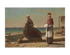 "DAD'S COMING!, 1873 BY WINSLOW HOMER     ART PRINT POSTER 14"" X 11"" (2772)"