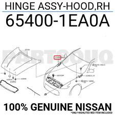 654001EA0A Genuine Nissan HINGE ASSY-HOOD,RH 65400-1EA0A