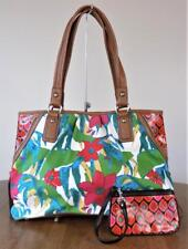TIGNANELLO~Rain Forest~Canvas~Large~Zipper Details~Tote~Bag w/ Change Purse