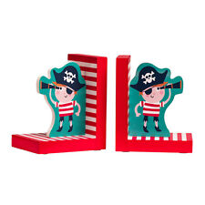 Pirate Set Of 2 Bookends MDF Ideal For Child's Bookcase Gift For Love Ones Home