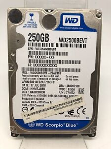 Internal Hard Drive 2,5Pouces Scorpiblue 250GB Westerndigital Model WD2500BEVT D