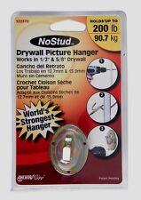 New! Hillman No Stud 200 lb. Metal Drywall Picture Hanger 1 pk. 122370