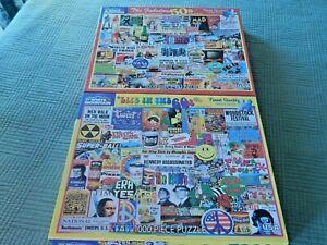 Lot of 2 White Mountain Jigsaw Puzzles (1000 piece) EUC