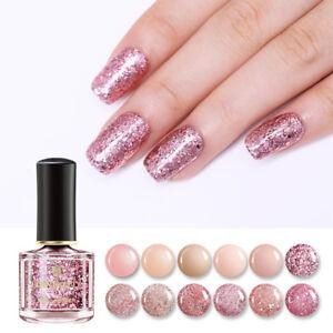 6ml BORN PRETTY Rose Gold Series Nail Polish  Pink Glitter Sequins Varnish Tools