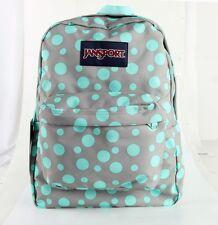 Jansport Superbreak Backpack Green Grey Rabbit Sylvia Dot 100% AUTHENTIC