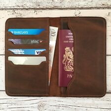 Free Personalised Leather Passport Holder Wallet Field Notes Journal Cover