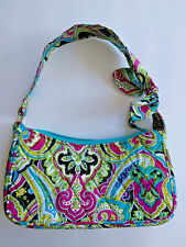 Vera Bradley Pattern Small Purse black pink white zip top closure with bow A5