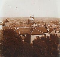 Praga Repubblica Ceca Foto Stereo PL52P2n24 Placca Da Lente Vintage