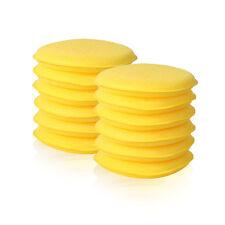 12 x Round Foam Sponge Applicator Pads for PTFE Polish, Carnauba Wax