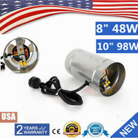 """8"""" 10"""" Exhaust Vent Fan Inline Duct Blower Grow Ventilation air cooling USA"""