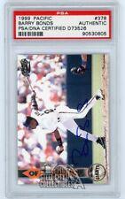 Barry Bonds 1999 Pacific Autographed Auto Card #378 - PSA/DNA
