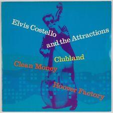 Elvis Costello & Attractions: Clubland Clean Money 7� Uk Pop Rock