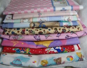Fabric Remnants Quilting and Crafts, Children Prints, Borders, Disney Princesses