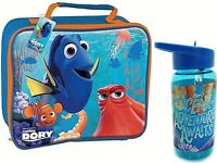 FINDING NEMO DORY CHILDRENS SCHOOL KIDS INSULATED WIPE CLEAN LUNCH BAG & BOTTLE