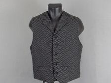 Men's WAHMAKER Gray Black Textured Western Vest + Cowboy Costume - M
