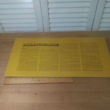Billionaire Board Game 1973  Card Board Instruction Box Insert
