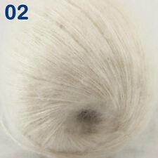 Sale New 1Skeinx50gr Soft Warm Angora Cashmere Silk MOHAIR HAND KNITTING YARN 02