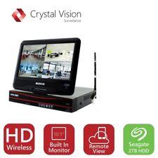 Crystal Vision CVT9604E 4CH HD Wireless Surveillance NVR, 2TB HDD, No Cameras