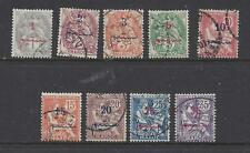 FRENCH MOROCCO - 26-34 - USED -1911-17 - NEW VALUE & ARABIC O/P ON MAROC STAMPS