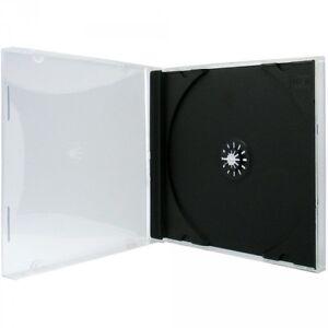 100 CD Hüllen 1er Jewelcase 10,4 mm für je 1 BD / CD / DVD schwarz