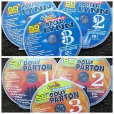 6 CDG DISCS FEMALE COUNTRY HITS DOLLY PARTON & LORETTA LYNN CHARTBUSTER KARAOKE