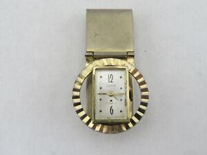 Vintage SWANK Money Clip w/ 17 Jewels Watch