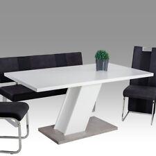 Esstisch Innsbruck Tisch in weiß und Betonoptik mit Säulenfuß Esszimmer