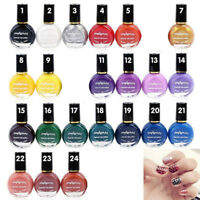 10ML WOMEN STAMP PRINTING NAIL POLISH PAINTED NAIL ART MANICURE VARNISH STRICT