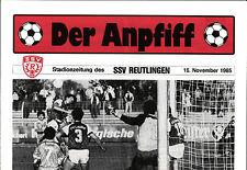 OL 1985/86 SSV Reutlingen - FC Pforzheim, 16.11.1985
