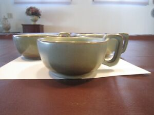 FRANKOMA 4SC Lot Of 3 Plainsman Mug Handled Soup Bowl - Woodland Moss