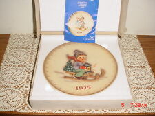 "HUMMEL GOEBEL ""1975"" COLLECTOR PLATE/BOX/HUM268/W GERMANY/HAND PAINTED/FREE SHIP"