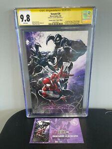 Venom #26 CGC SS 9.8 Clayton Crain signed Scorpion comics LTD VIRGIN 65/700