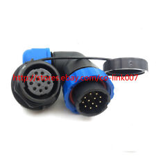 SD20 12Pin Waterproof Connector Right Angle 250V High voltage Power Connector