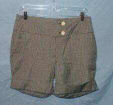 BETSEY JOHNSON PLAID WOOL CUFFED SHORTS SZ 8 NWTGS $265