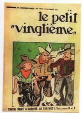 Carte Postale Tintin Le Petit Vingtième n° 10 décembre 1931 Tintin au Far West