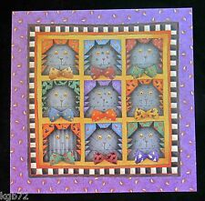 Leanin Tree Halloween Greeting Card Cats Nine Lives Multi Color HW22