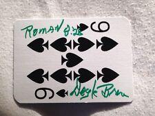 Doyle Brunson GODFATHER OF POKER HAND SIGNED Playing Card Nine of Spades w/COA