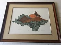 R.J. Williams Limited Edition Etching Print, Hand Signed & Numbered, Framed