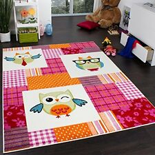 Children Rug Owls Multicoloured Bedroom Playroom Kids Mat Floor Carpet Nursery