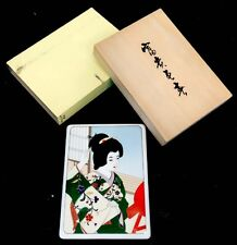 DEUTSCHE NORITAKE Porcelain China JAPANESE Geisha BIJIN GA Wall Plaque WOOD BOX