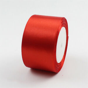 25 Yards Roll Satin Ribbon 50mm Widths Wedding Party Holiday Gift Wrap DIY Craft
