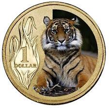 AUSTRALIA: 2012 $1 Sumatran Tiger PNC Zoo Series Uncirculated colour $1
