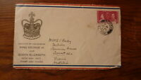 1937 HONG KONG STAMP ISSUE FIRST DAY COVER, CORONATION ISSUE, VICTORIA