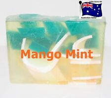 HANDMADE NATURAL TRANSPARENT SOAP ~ MANGO MINT ~ 100GRAMS ~ 4 for $8 Postage